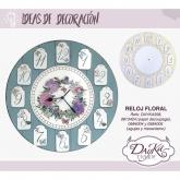 Set relógio floral Dayka