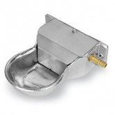 Bebedor mini de alumínio com entrada horizontal, 0.4 L