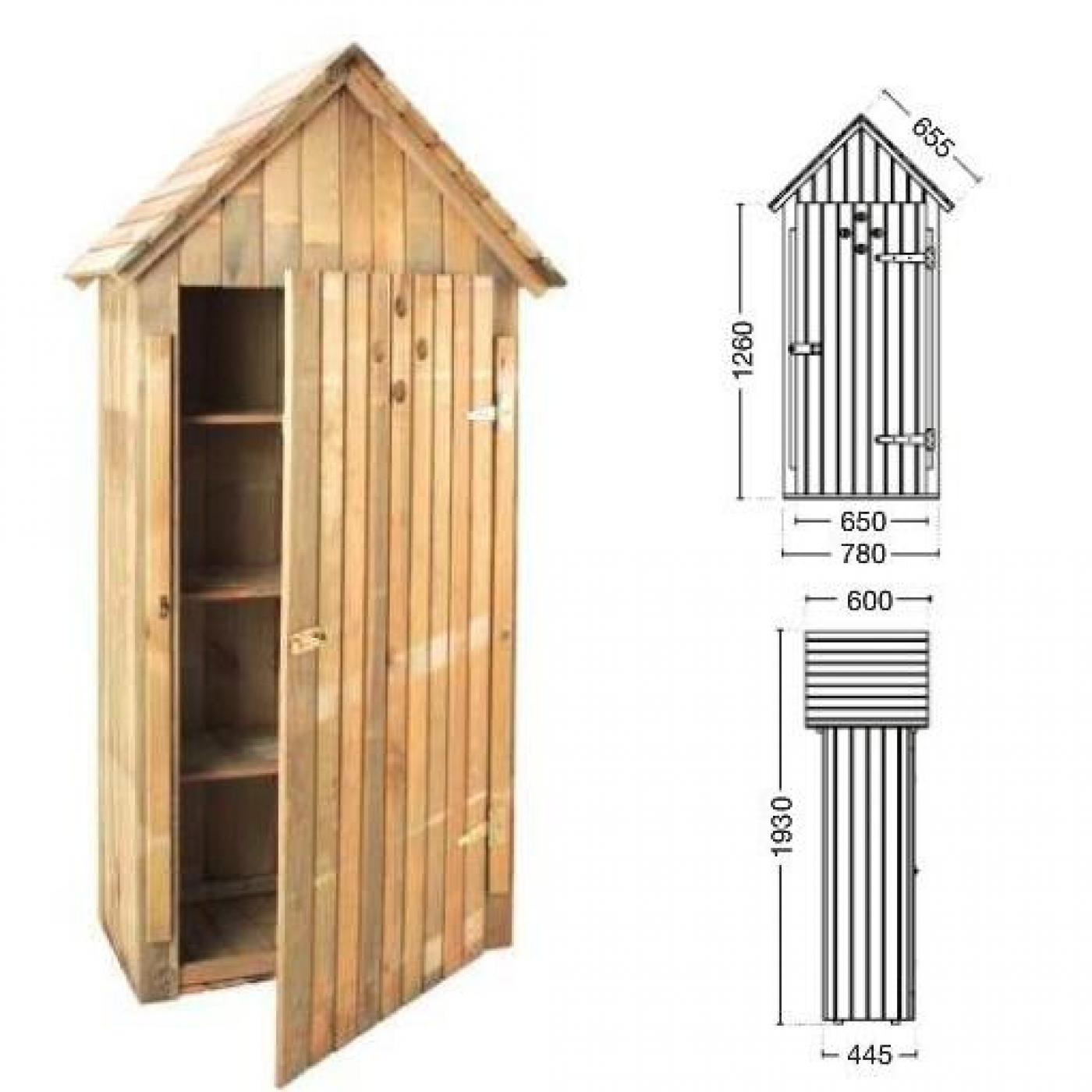 Armario de madera de jard n wissant por 219 00 en for Armario madera jardin