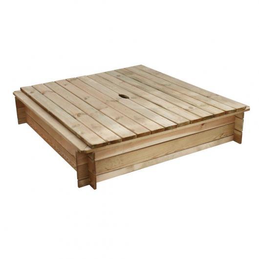 Sandbox quadrato 243L con coperchio