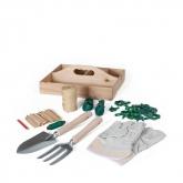 Kit con scatola in legno per la cura del giardino Catral