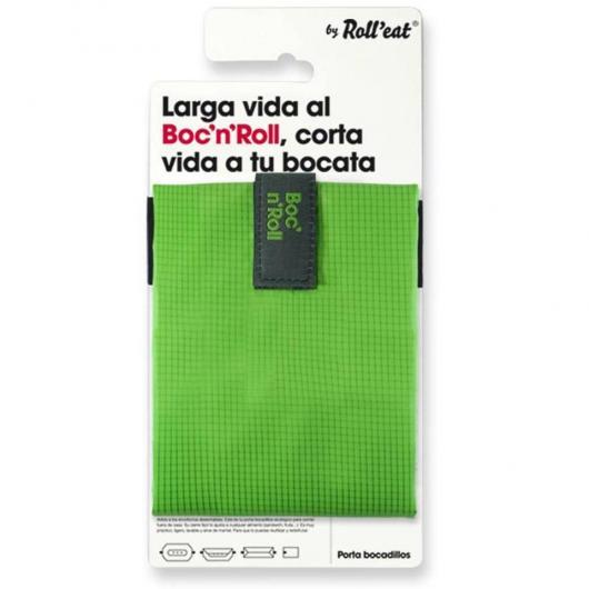 Porta bocadillos reutilizable Boc'n'Roll SQ verde