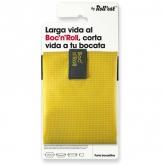 Porta bocadillos reutilizable Boc'n'Roll SQ amarillo