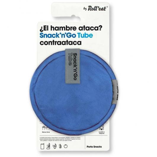 Porta snacks reutilizable Snack'n'Go Tube azul
