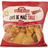 Chips di mais e chili Natursoy, 75g