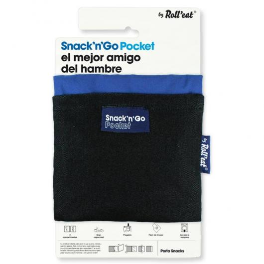 Porte encas réutilisable Snack'n'Go Pocket bleu