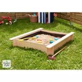 Caixa de areia quadrada infantil 110x110x20 cm