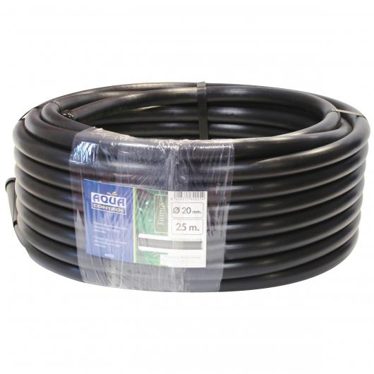 Tubo nero liscio 20mm