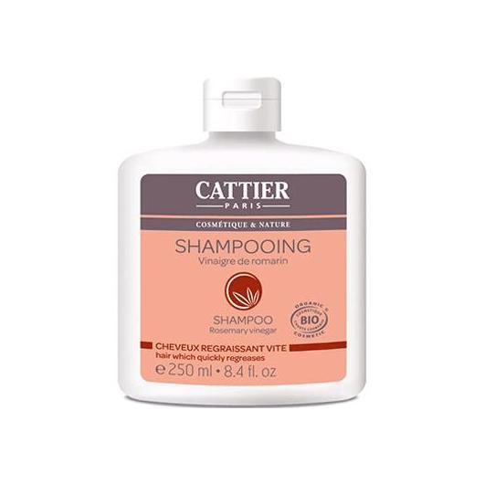 Shampooing au vinaigre de romarin pour cheveux gras Cattier 250 ml