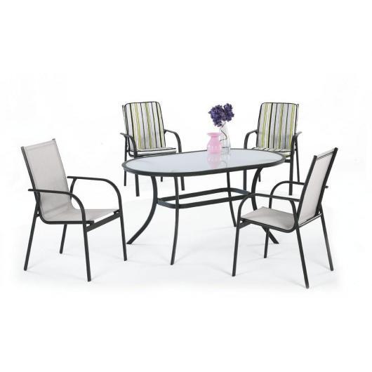 Set muebles jardín aluminio Teluro 150/4