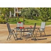 Set muebles jardín acero Sulam 151/4Tb