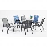 Set muebles jardín acero Sulam 150/4-S