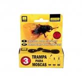 Armadilha para moscas Flydefender, 3 ud