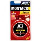 Adhesivo de montaje express en cinta Ceys Montack 2,5 m 19 mm