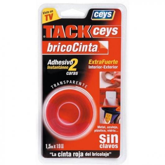 Bricocinta transparente Tackceys 1,5 m 19 mm