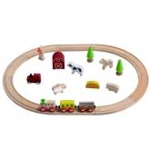 Giocattolo ECO Set di ferrovia agricola, Everearth