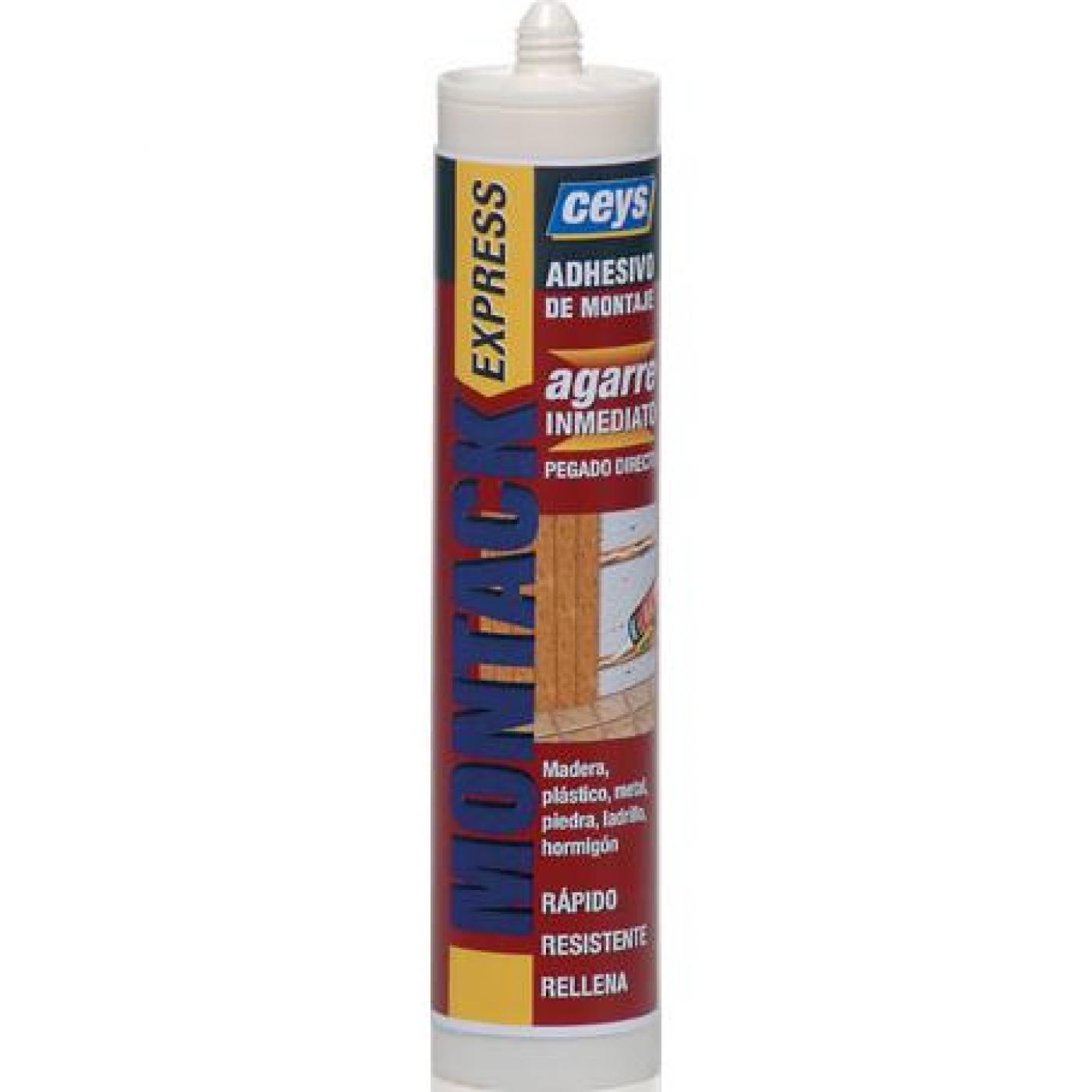 Aparador Relva Aki ~ Adhesivo de montaje express Ceys Montack cartucho 300 ml por 7,81 u20ac en Planeta Huerto