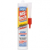 Adhesivo y sellador Ceys MS-Tech transparente cartucho 290 ml