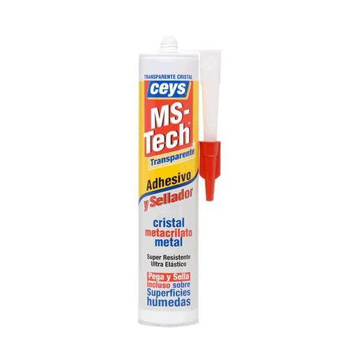 Adhesivo y sellador Ceys MS-Tech transparente cartucho 290 ml