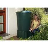 Réservoir rond pour eau de pluie avec base