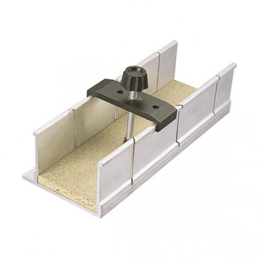 Wolfcraft 2228000 - 1 caja de ingletes con abrazadera de fijación en aluminio 250 x 73 x 60 mm