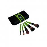 Jogo de 5 brochas veganas para maquiagem, Zuii Organic
