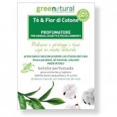 Saquetas perfumadas Chá e Flor-de-Algodão Greenatual, 10 unidades
