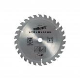 Disco de serra circular para madeira HM ø 160 mm 20 dentes Wolfcraft