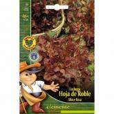 Sementes biológicas de alface de folha de carvalho roxa (Red Salad Bowl)