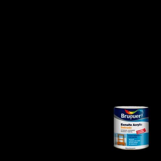 Esmalte acrílico satinado laca Acrylic NEGRO 250 ml