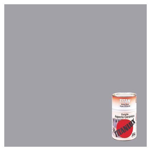 Esmalte de aspecto cerámico super brillante GRIS Titanlux, 750 ml