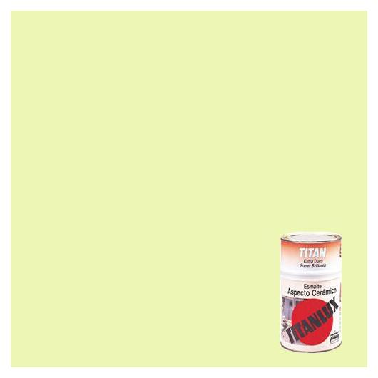Esmalte de aspecto cerámico super brillante AMARILLO Titanlux,  750 ml
