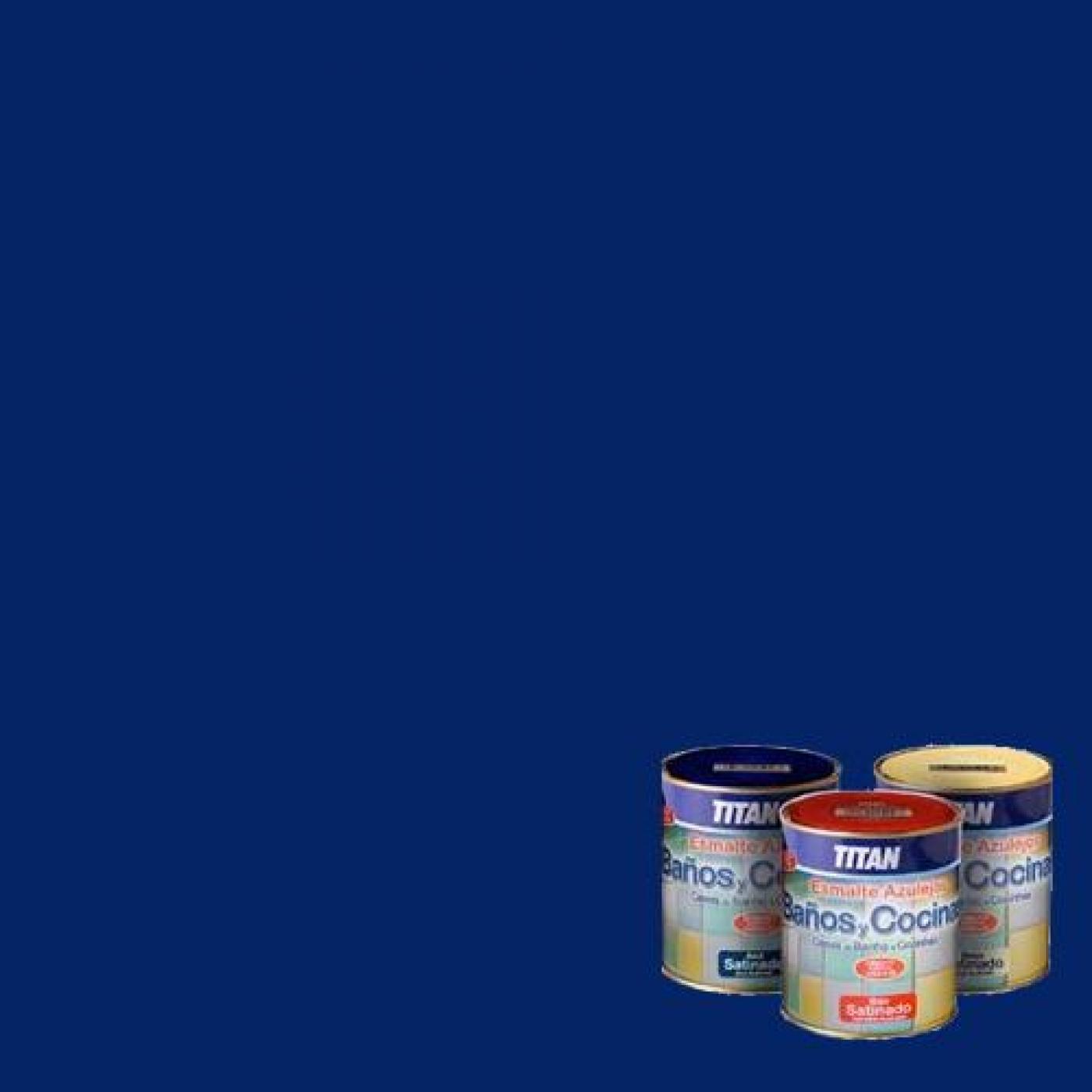 Esmalte satinado para azulejos azul 750 ml titan ba os y - Titan banos y cocinas ...