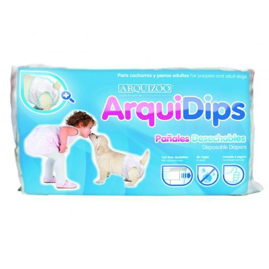 Pañales cachorro  ArquiDips M 14pcs.