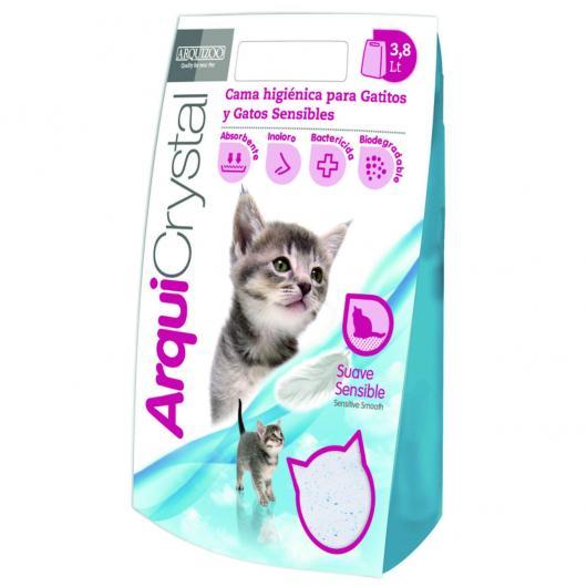 Lecho higiénico Especial Gatitos ArquiCrystal 3,8 l.