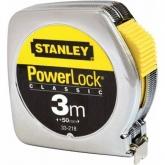 Flexómetro Stanley PowerLock Classic metálico 3 m