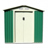 Casetta metallica piccola con doppia porta 121x201x190 cm