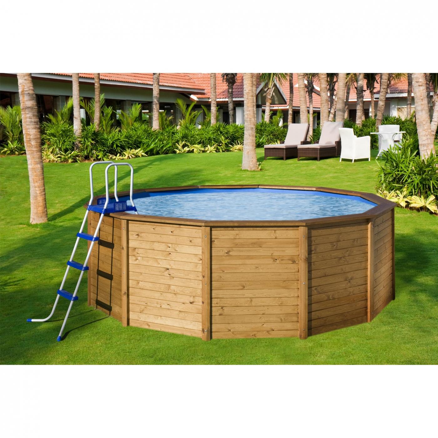 Piscina de madera con depuradora por en planeta - Depuradora para piscina ...