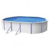Cobertor solar para piscina ovalada 490 x 370 cm