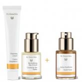 Pack Creme de Limpeza facial 50 ml, Creme de dia Fluido 30 ml + OFERTA Tónico de rosto, 30 ml Dr. Hauschka