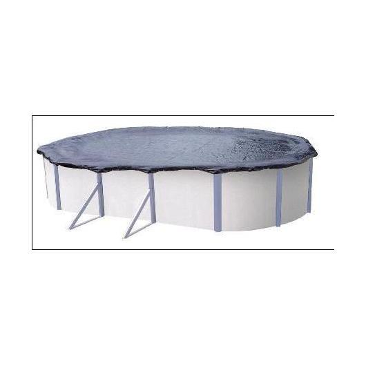 Copertura inverno regolabile per piscina ovale