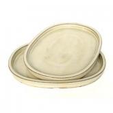 Prato oval bege