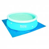 Tapiz de suelo para piscina 244 cm diámetro