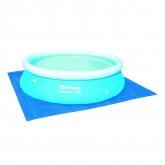 Tapiz de suelo para piscina 305 cm diámetro