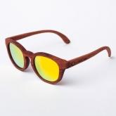 Óculos de sol de madeira Jarvis Golden Mirror