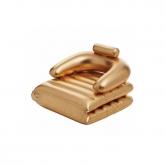 Poltrona insuflável dourada para piscina