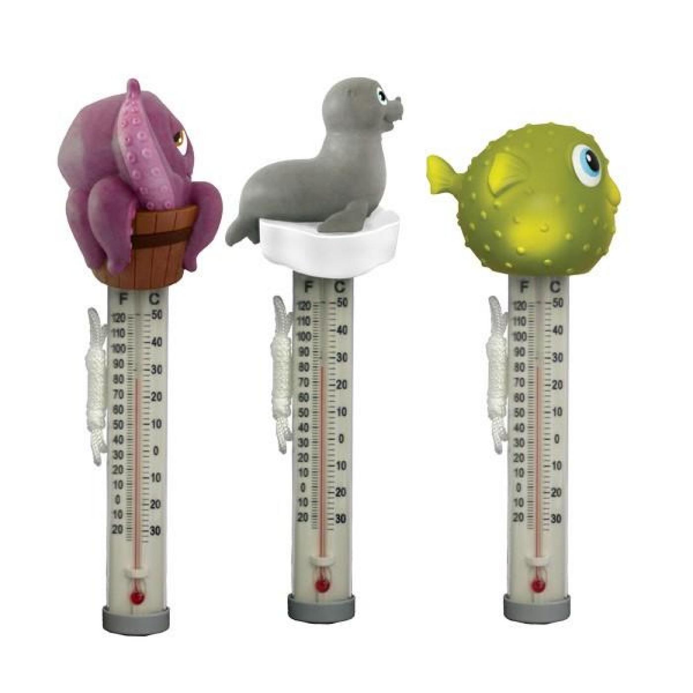 Term metro flotante para piscina con forma de animales por for Termometro piscina