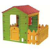 Casa para crianças estilo granja com vila