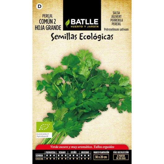 Semillas ecológicas de  Perejil común 2 hoja grande
