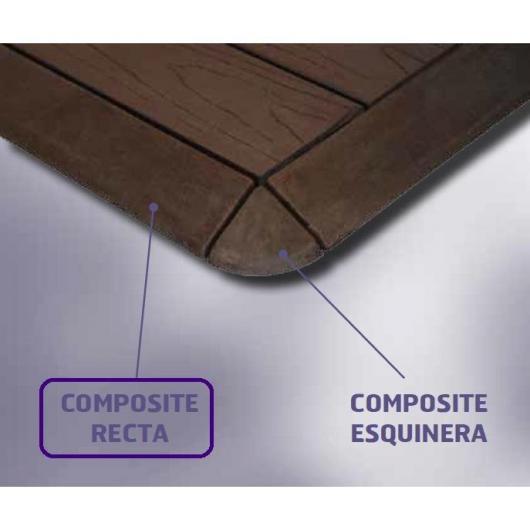 Terminación Loseta Composite Recta 30x5x3,2